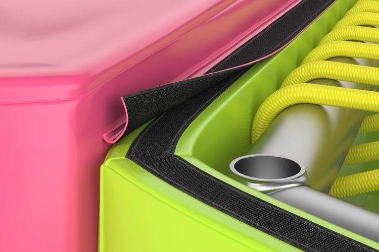 Trampolin i jastuk su međusobno povezani s kvalitetnom čičak trakom