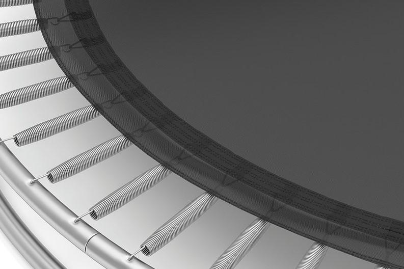 AkroSpring Pro opruge omogućuju, ugodan doskok i velik odskok, a bez štetnog utjecaja na skakača